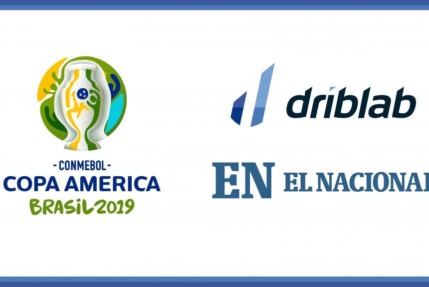 El Nacional and Driblab will collaborate in the coverage of Copa America 2019